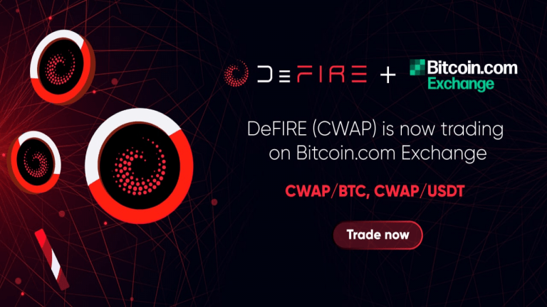 DeFire (CWAP) Token Is Now Listed on Bitcoin.com Exchange