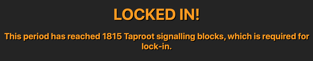 Taproot Lock-in Achieved — Bitcoin Network Set to Activate Biggest Upgrade in Four Years
