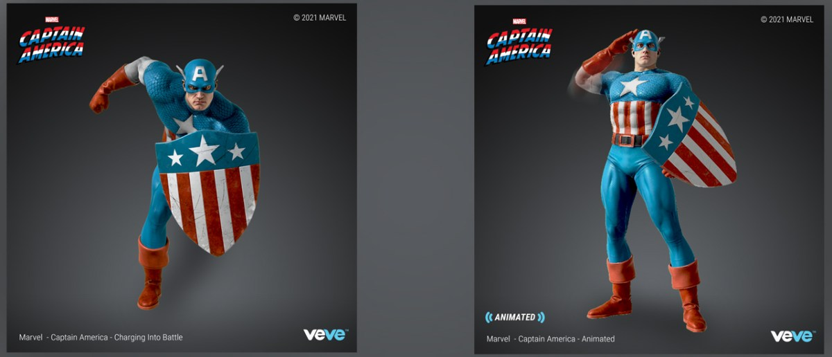 Marvel to Drop Captain America NFT Statues, Fully-Readable Amazing Spider-Man #1 NFTs