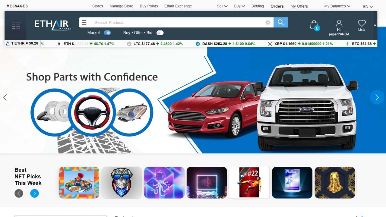 Ethair Market se enfrenta a Amazon y eBay para revolucionar el mundo del comercio electrónico