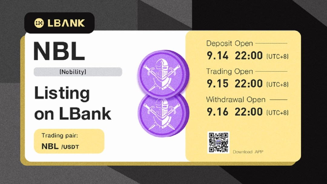 LBank Exchange Lists NBL (Nobility)