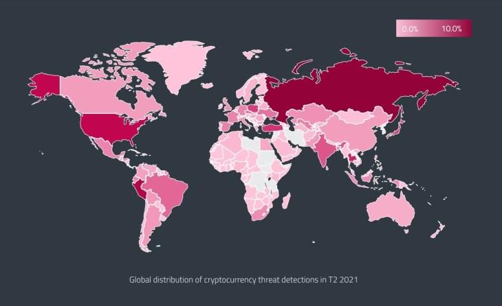 Rússia, EUA no Top 3 para ameaças relacionadas a criptografia, relatório de segurança cibernética revela