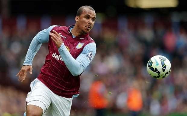 """Football - Aston Villa v Burnley - Barclays Premier League - Villa Park - 24/5/15 Aston Villa's Gabriel Agbonlahor in action Mandatory Credit: Action Images / Henry Browne Livepic EDITORIAL USE ONLY. No use with unauthorized audio, video, data, fixture lists, club/league logos or """"live"""" services. Online in-match use limited to 45 images, no video emulation. No use in betting, games or single club/league/player publications.  Please contact your account representative for further details."""