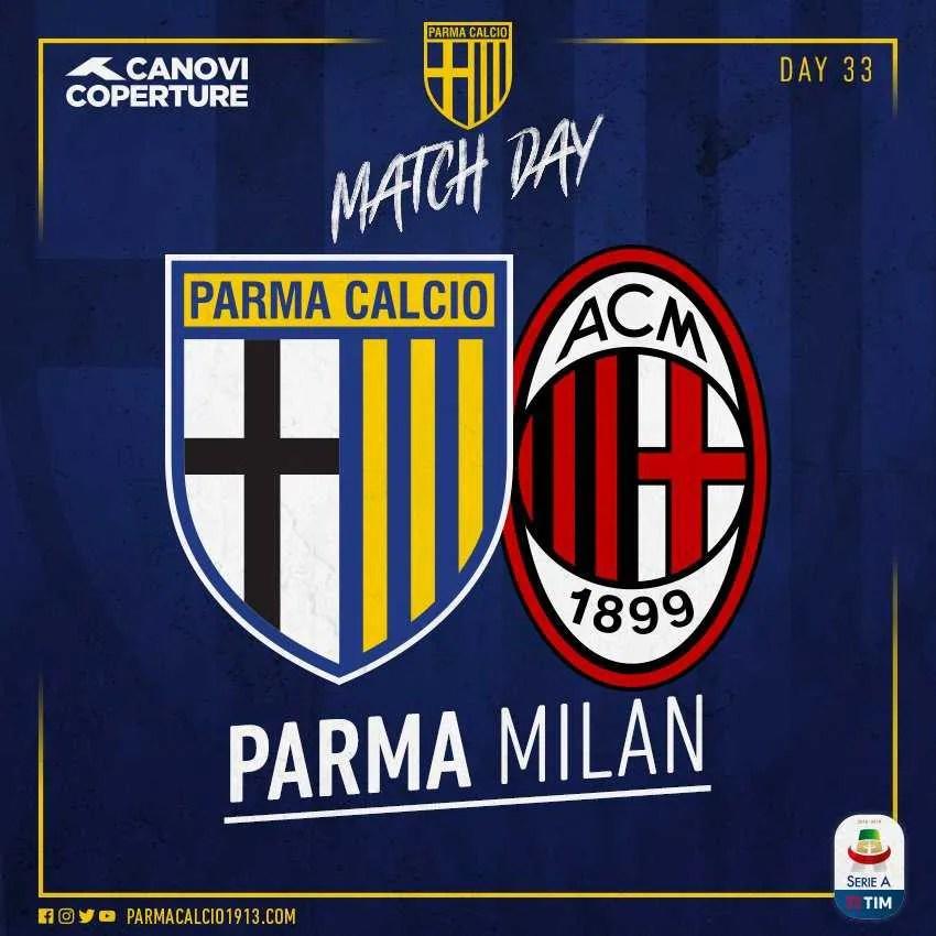 parma milan foto twitter ufficiale Parma+
