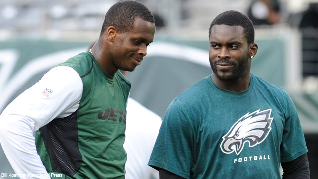 Michael Vick will challenge Geno Smith for the role of starting QB.