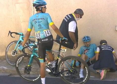 Ion Izagirre desiste após acidente no Tour de France