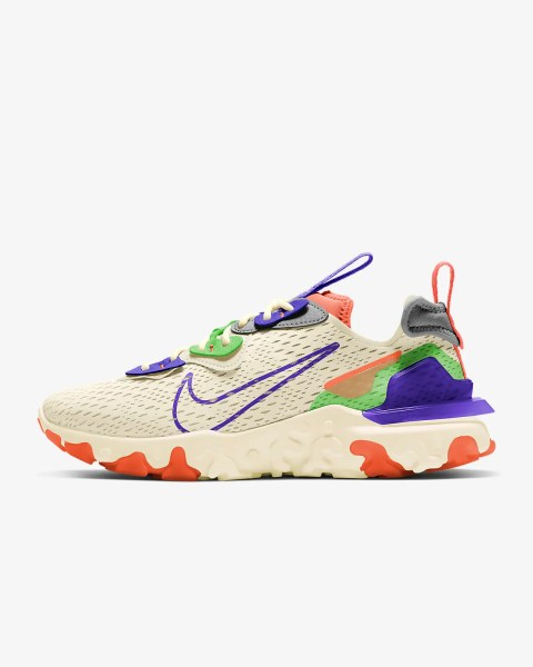 Women's Nike React Vision 'Pale Ivory / Mean Green' .58 Free Shipping