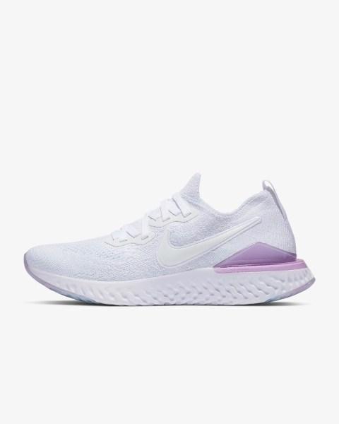 Women Nike Epic React Flyknit 2 'White / Pink Foam' .97 Free Shipping