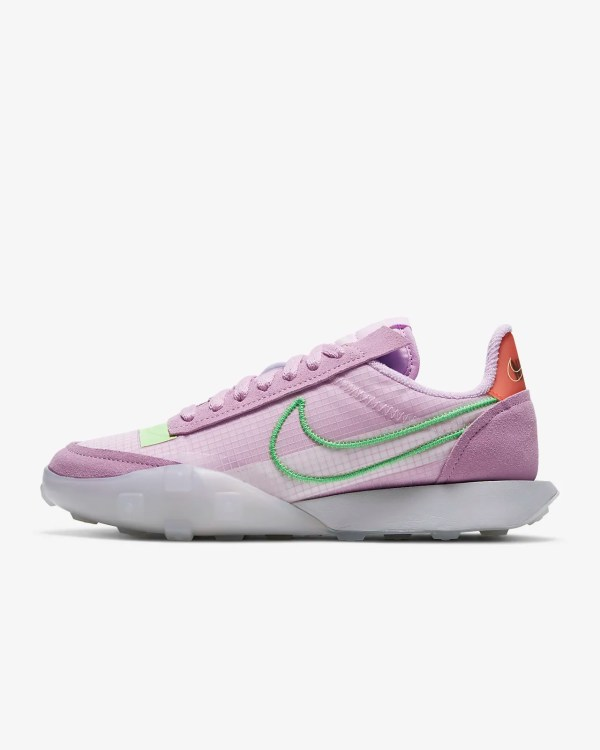 W Nike Waffle Racer 2X 'Arctic Pink / Poison Green' .97 Free Shipping