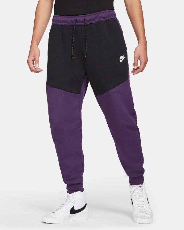 Nike Sportswear Tech Fleece 'Grand Purple / Black' .97 Free Shipping