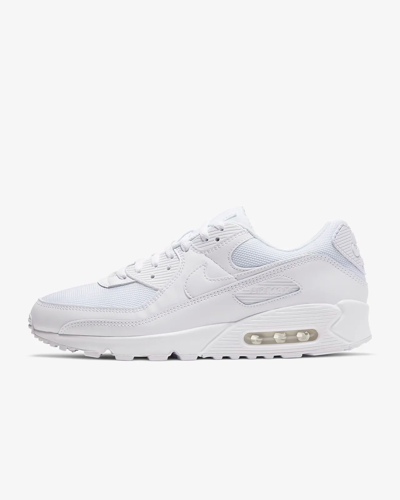 Nike Air Max 90 'Triple White' .00 Free Shipping