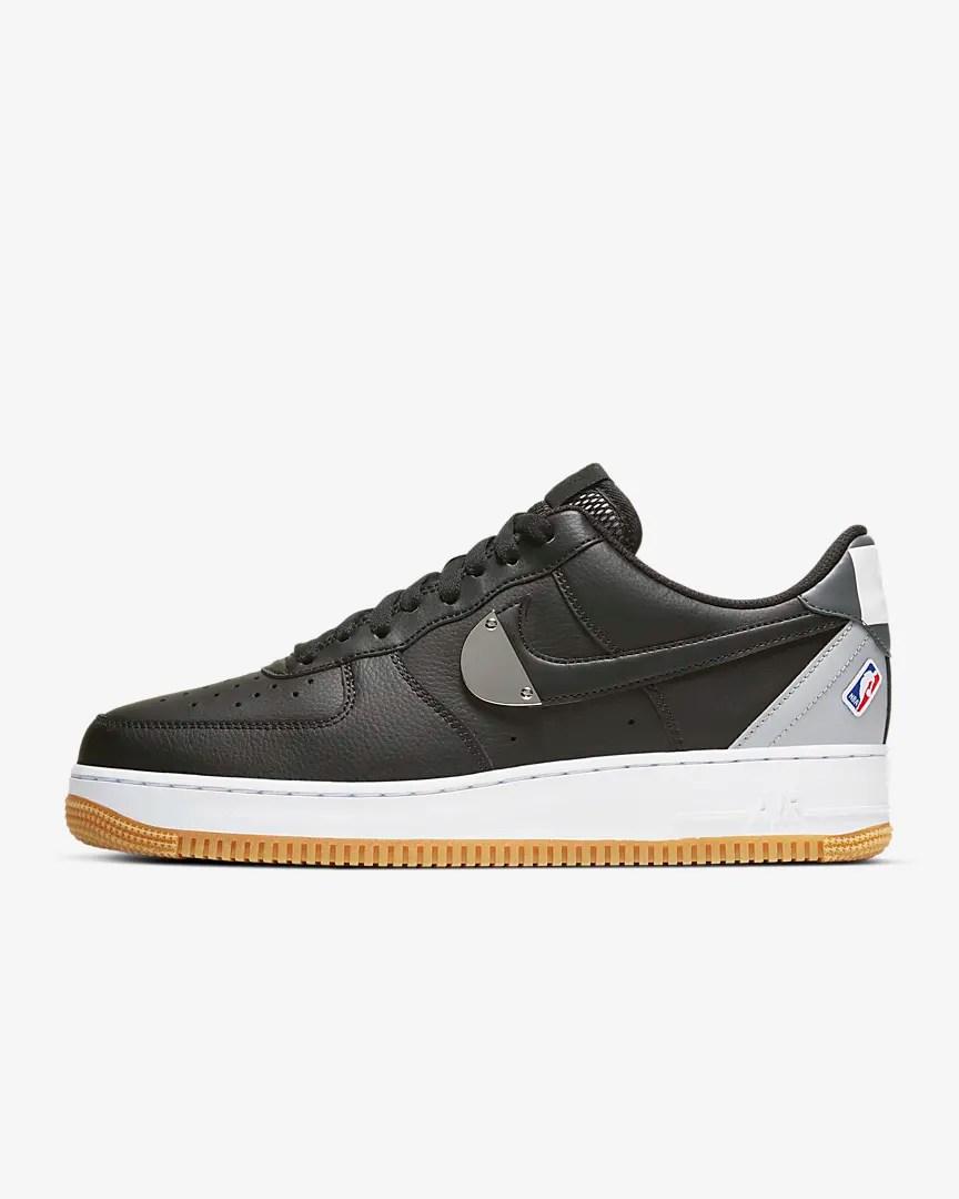 NBA x Nike Air Force 1 '07 'Black / Gum'