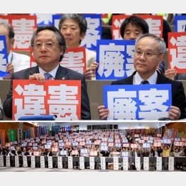 小林節慶応大名誉教授(左)と長谷川恭男早大教授(C)日刊ゲンダイ