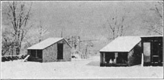 Fresh-air chicken coop in winter