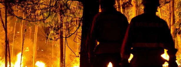 Mais de 580 homens combatiam quatro fogos