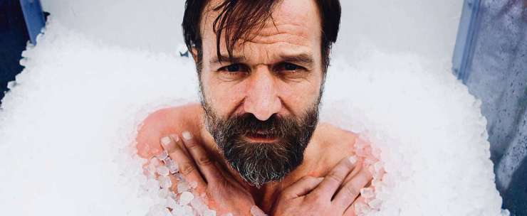 Ijsman Wim hof is super cool