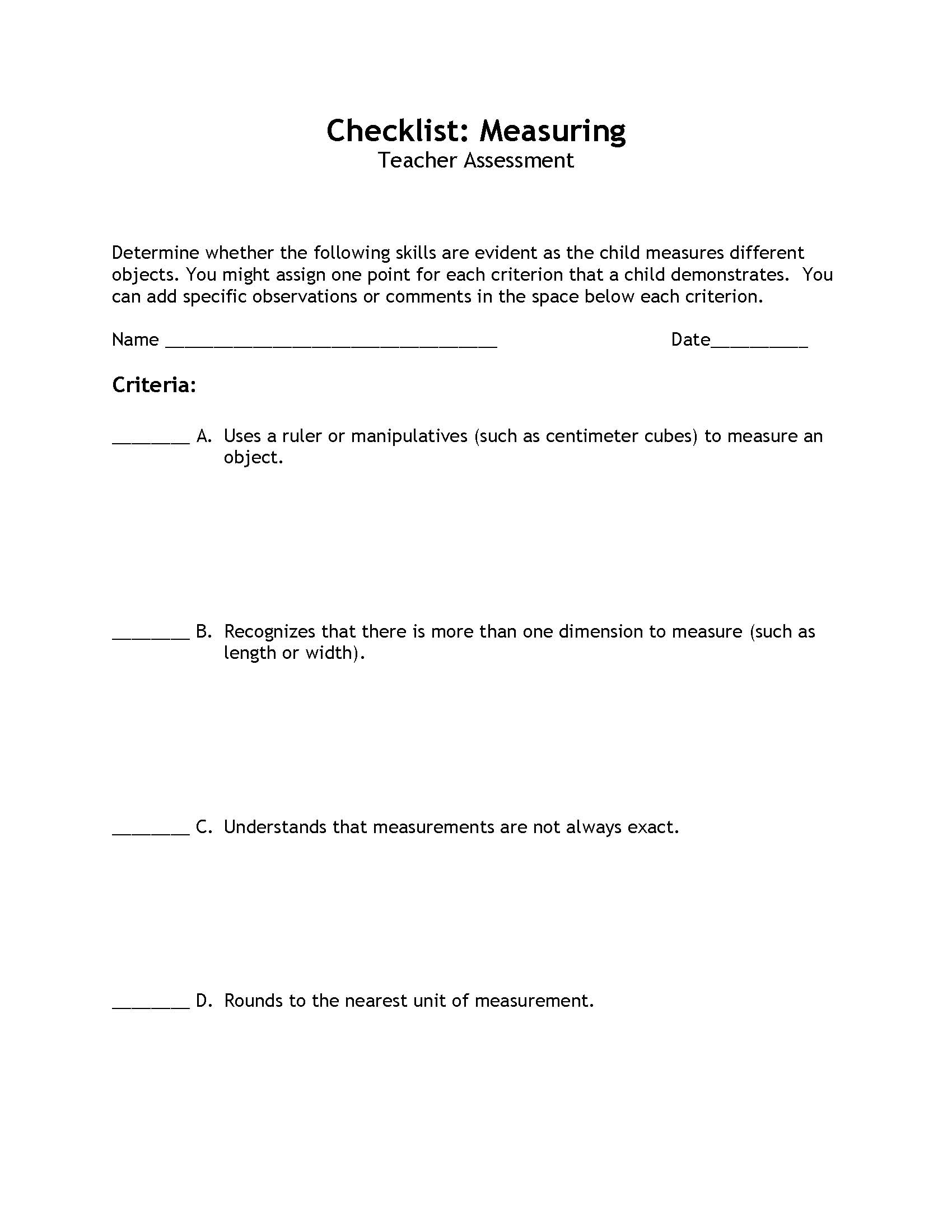 Classroom Observation Reflection Paper