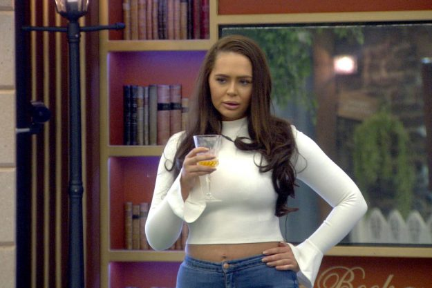 Chanelle McCleary holding a glass