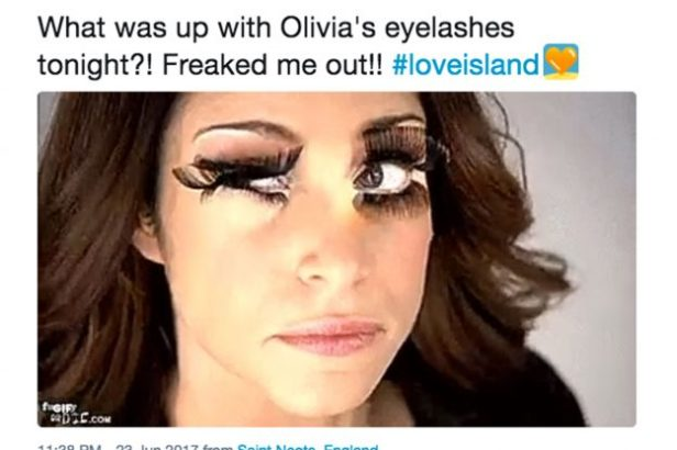 Love Island: Fans react to Olivia Attwood false eyelashes and admit to being freaked out