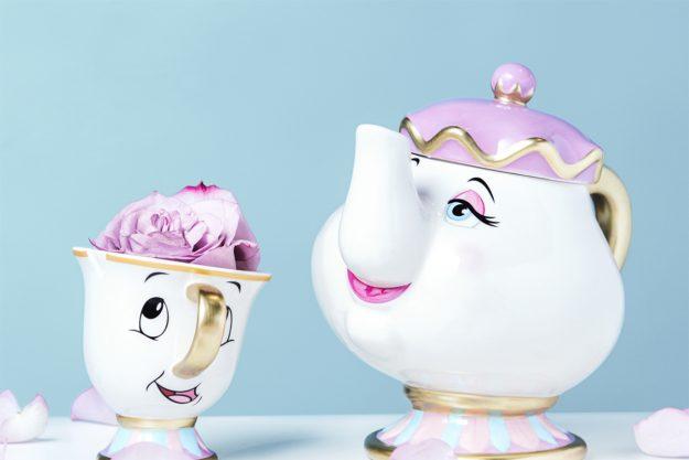 Mrs Potts and Chip tea set