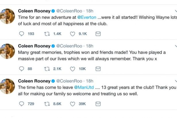Coleen Rooney shared an emotional tribute to Manchester United