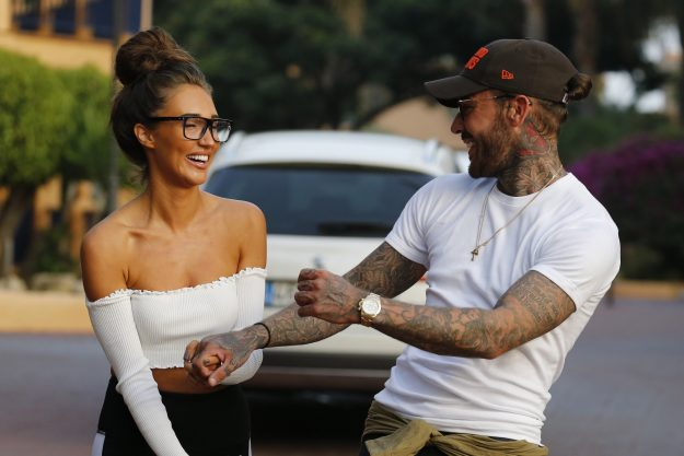TOWIE's Megan McKenna and Pete Wicks giggled and laughed together
