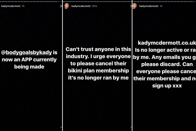 Kady McDermott Revealed The News On Her Instagram Story, Urging Fans To  Cancel Their Memberships With Her Fitness Plan [Kady McDermott/Instagram]