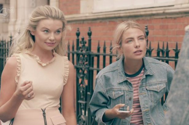 Jess and Toff bunp into Julius Cowdrey and find out they are not invited to Olivia Bentley birthday party on 'Made In Chelsea'. Broadcast on E4 HD    Featuring: Jess Woodley, Jessica Woodley, Georgia Toffolo, Toff  When: 17 Oct 2016  Credit: Supplied by WENN    **WENN does not claim any ownership including but not limited to Copyright, License in attached material. Fees charged by WENN are for WENN's services only, do not, nor are they intended to, convey to the user any ownership of Copyright, Licens