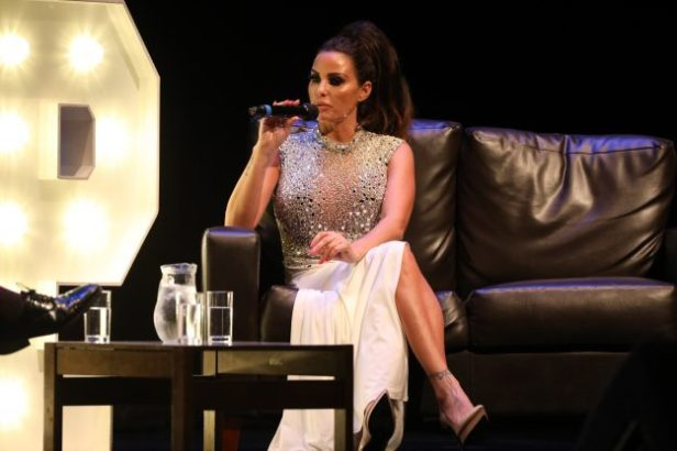 Katie Price discusses stories from her life during a very special evening on the opening night of 'An Audience with Katie Price'