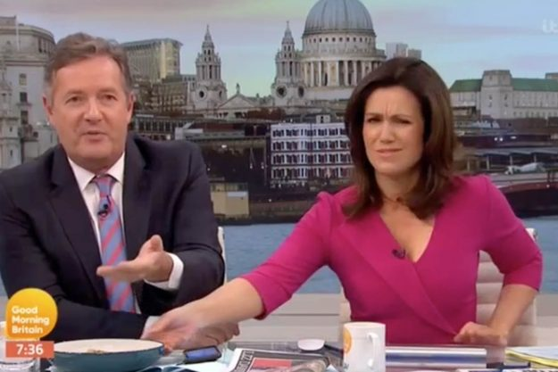 Good Morning Britain: Susanna was left furious after Piers was caught eating breakfast live on air