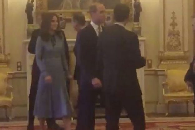 Kate Middleton stepped out in a blue gown for the appearance
