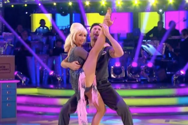 Strictly Come Dancing: Fans rushed to social media as Debbie performed a split in mid-air