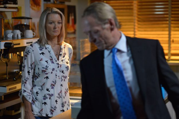 EastEnders: Kathy Beale and James Willmott-Brown come face-to-face