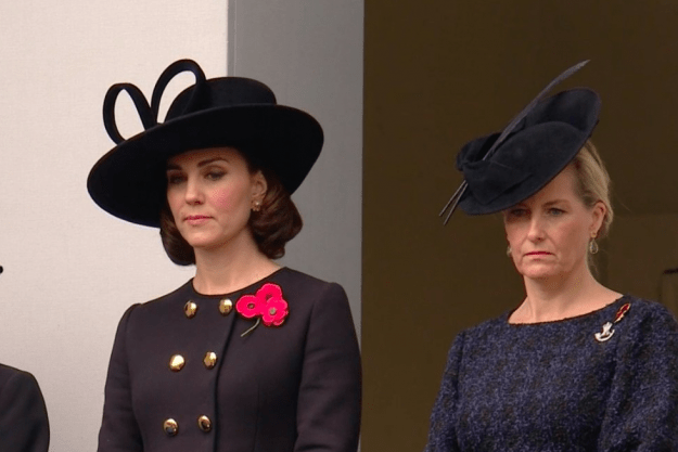 Kate Middleton on Remembrance Sunday