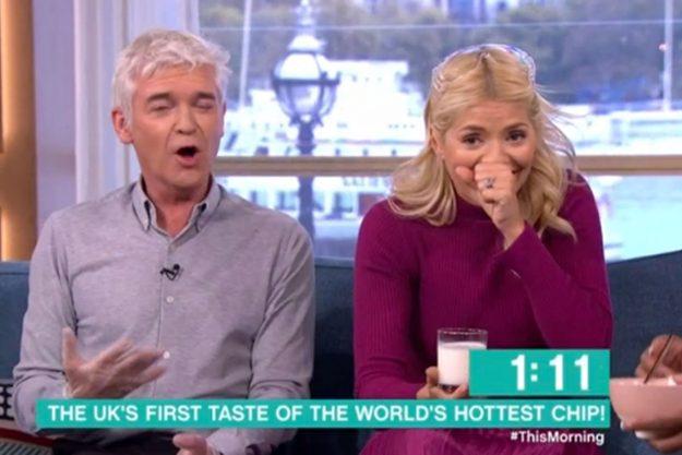 Watch the moment Phillip Schofield eats the world's hottest chilli crisp