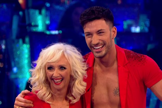 Debbie McGee and Giovanni Pernice perform for the judges on 'Strictly Come Dancing'. Broadcast on BBC One Featuring: Debbie McGee, Giovanni Pernice When: 11 Nov 2017 Credit: Supplied by WENN **WENN does not claim any ownership including but not limited to Copyright, License in attached material. Fees charged by WENN are for WENN's services only, do not, nor are they intended to, convey to the user any ownership of Copyright, License in material. By publishing this material you expressly agree
