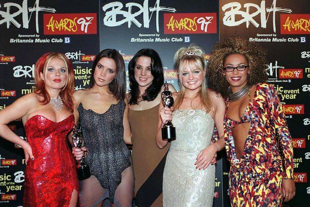 The ' Brit Awards' - 1997, The Spice Girls - Geri Halliwell, Victoria Beckham, Melanie Chisholm, Emma Bunton And Melanie Brown