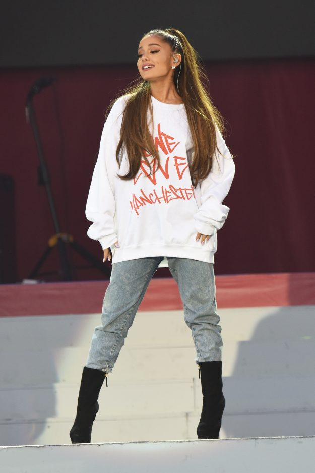 One Love Manchester concert: Ariana Grande wore a One Love Manchester jumper and tracksuit bottoms