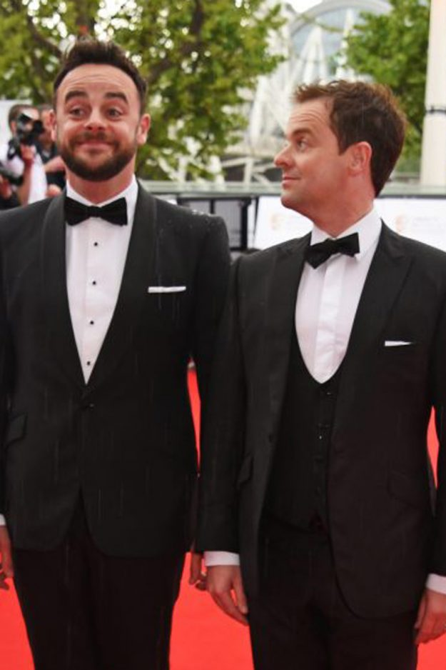 Ant and Dec pose at the BAFTAs in tuxedos
