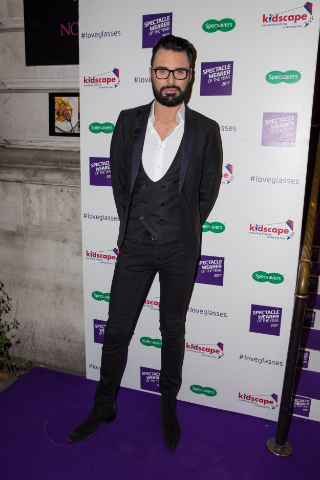 Celebrity arrivals for the Specsavers' Spectacle Wearer of the Year 2017 – Rylan Clark-Neal