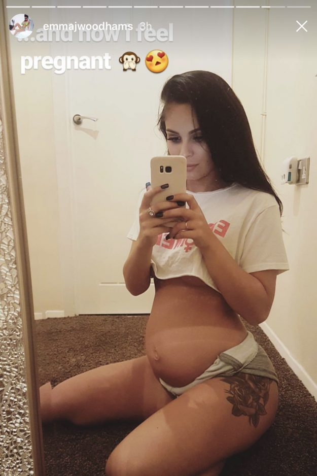 Emma-Jane Woodhams showed off her gorgeous bump [Emma-Jane Woodhams]