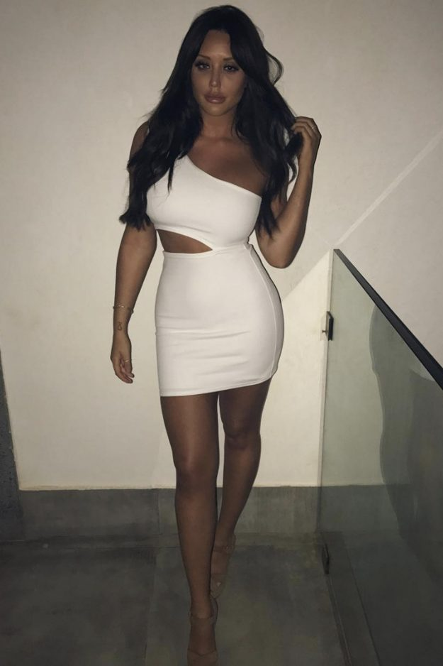 Charlotte Crosby showed off her epic figure in a sexy white dress