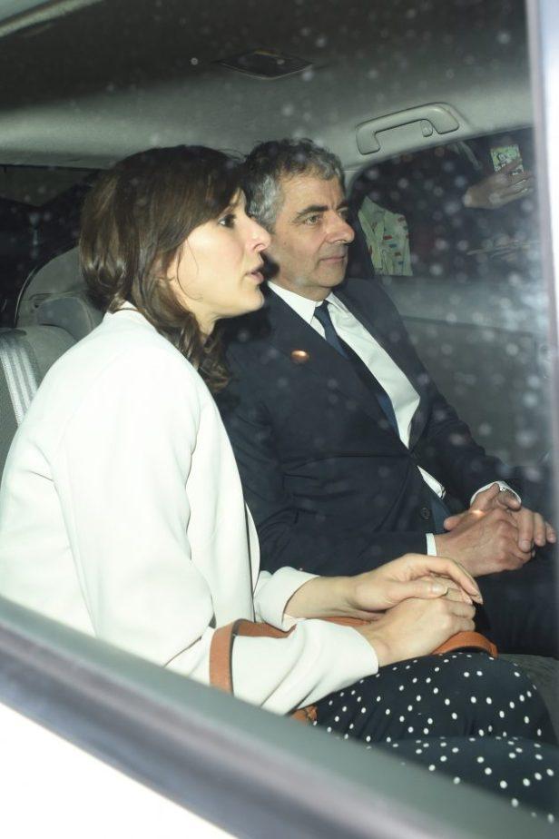 Rowan Atkinson with wife Louise