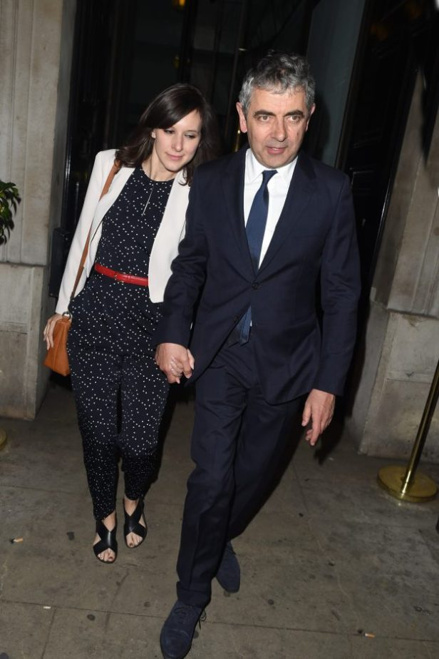 Rowan Atkinson and wife Louise