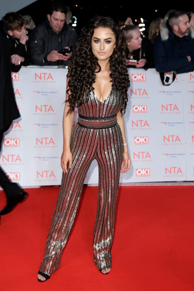 Amber Davies shows off her new hairstyle at the NTAs