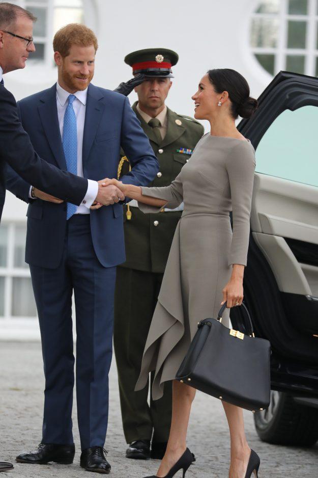 The Duke and Duchess of Sussex meet the Irish President Michael Higgins