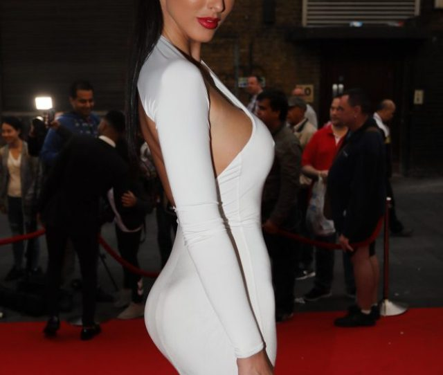 Jermaine Pennant And Wife Alice Goodwin On The Red Carpet Of The Gloves Off