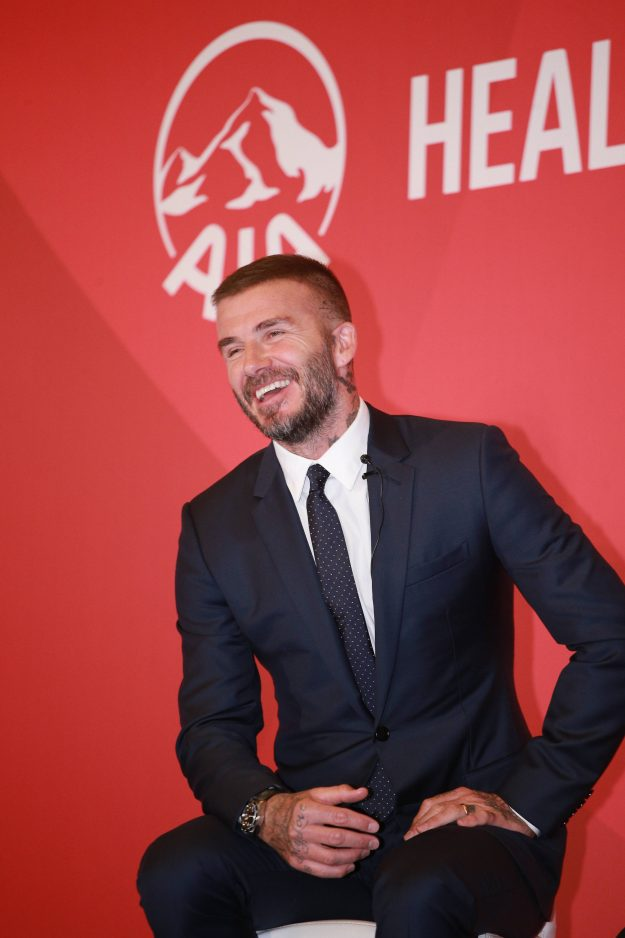 David Beckham looked suave and sophisticated at the event