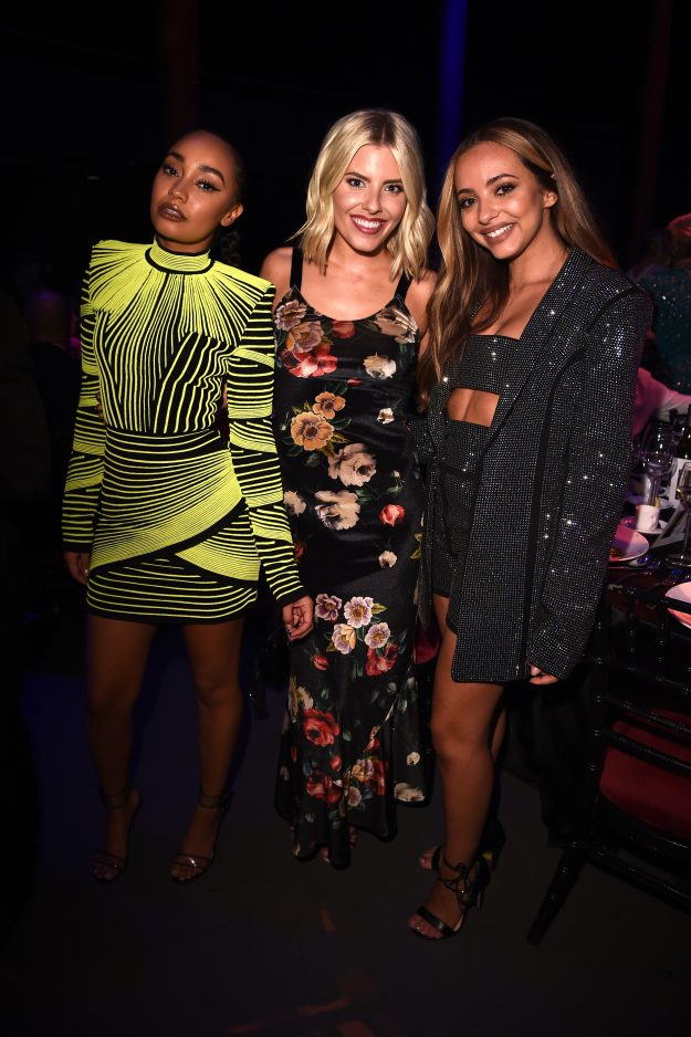 LONDON, ENGLAND - OCTOBER 11: (EXCLUSIVE ACCESS)  (L-R) Leigh-Anne Pinnock, Mollie King and Jade Thirlwall attend The Virgin Holidays Attitude Awards at The Roundhouse on October 11, 2018 in London, England. (Photo by Eamonn M. McCormack/Getty Images)