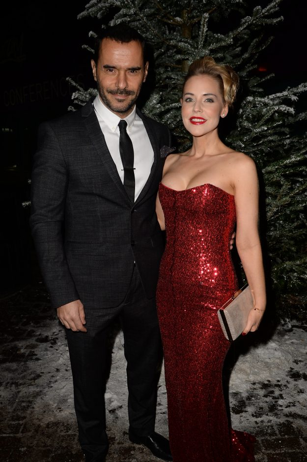 Stephanie Waring and Michael Greco make red carpet debut
